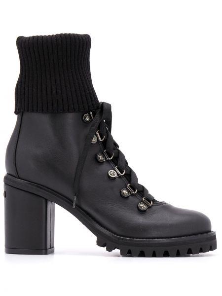 Ботильоны на каблуке - черные Le Silla