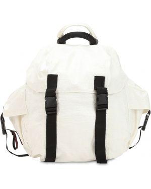 Biały plecak klamry bawełniany Haervaerk