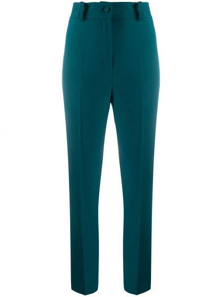 Зеленые деловые брюки на молнии Hebe Studio