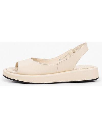 Кожаные бежевые сандалии Laremo