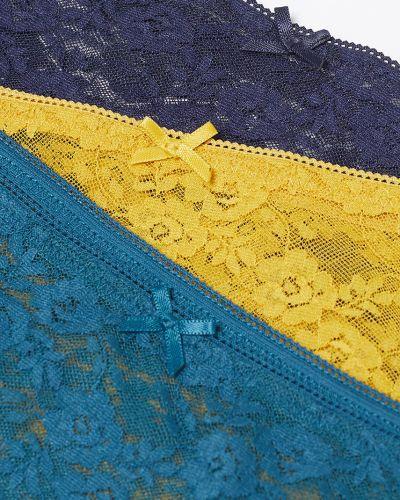 Трусы с подкладкой синий Etam