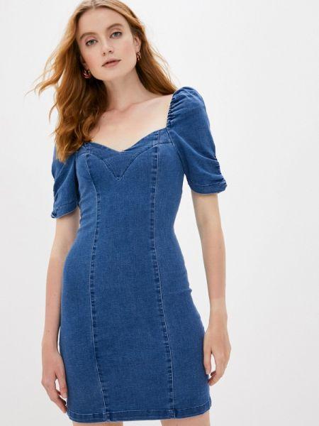 Синее джинсовое платье Love Republic