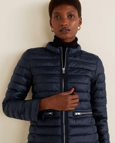 Стеганая куртка с карманами утепленная Mango