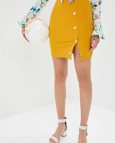 Желтая юбка облегающая Naanaa