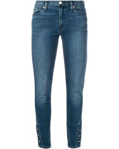 Зауженные джинсы с заниженной талией - синие Hudson