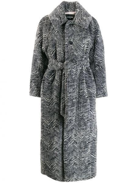Длинное пальто на пуговицах с поясом Dsquared2