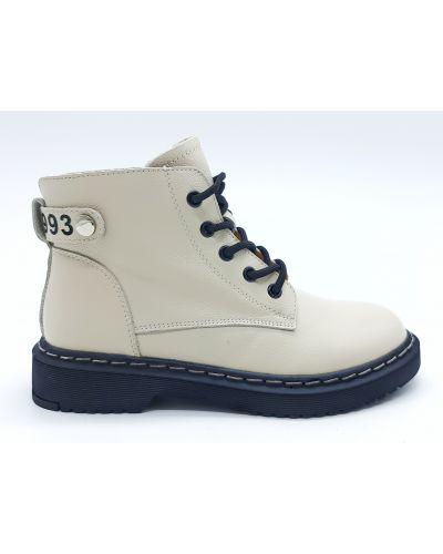 Кожаные ботинки - бежевые Boss Victori