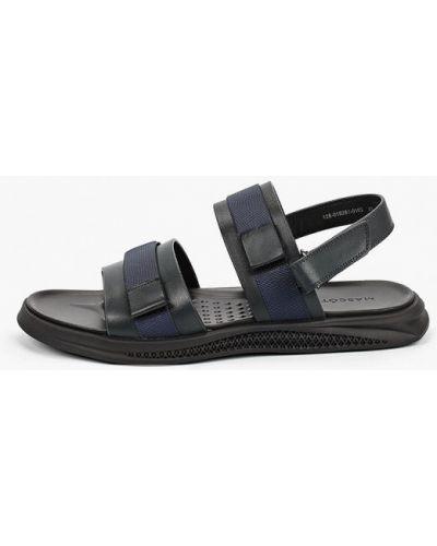 Синие кожаные сандалии Mascotte