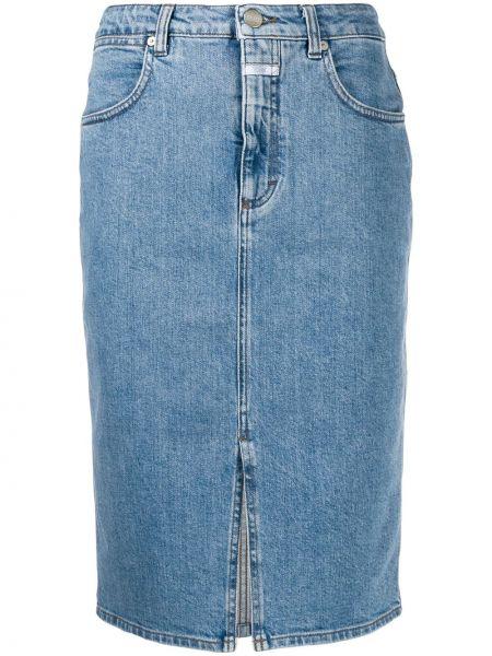Джинсовая юбка на пуговицах карандаш Closed