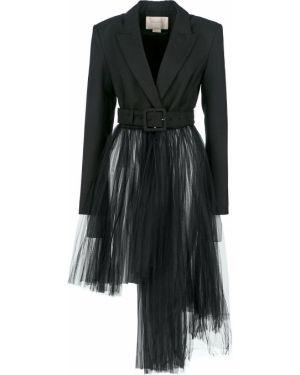 Пиджак черный двубортный Miss Sixty