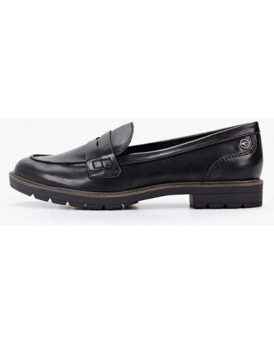 Туфли на каблуке кожаные осенние Tamaris