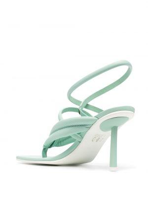 Открытые кожаные сандалии на каблуке Le Silla