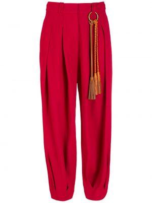 Красные брюки с завышенной талией НК