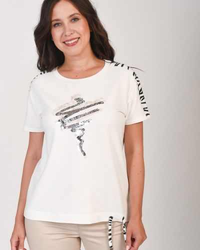Хлопковая футболка Rabe Collection