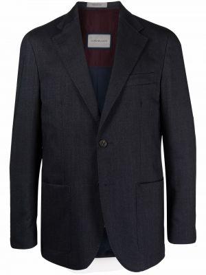 Синий однобортный пиджак Corneliani