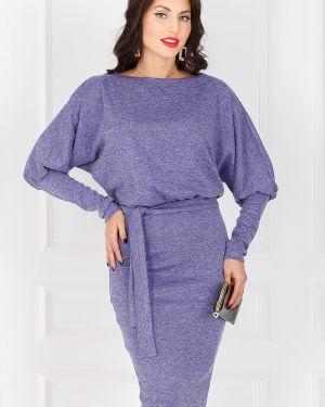 Платье с поясом платье-сарафан фиолетовый Taiga
