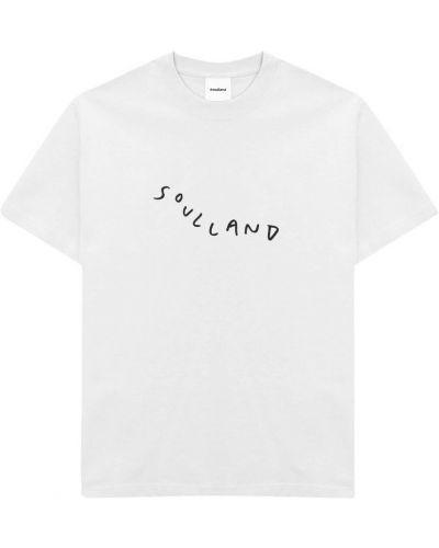 Biała t-shirt Soulland