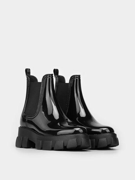 Ботинки челси - черные Braska