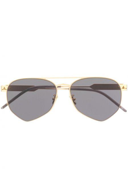 Złote okulary khaki So.ya