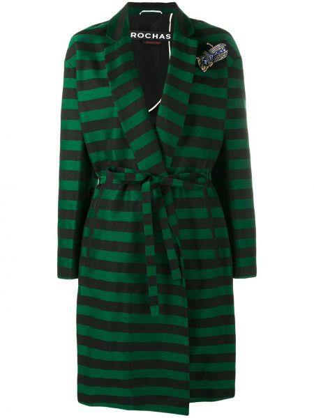 Зеленое шелковое пальто Rochas