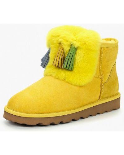 Желтые полусапожки замшевые Winzor