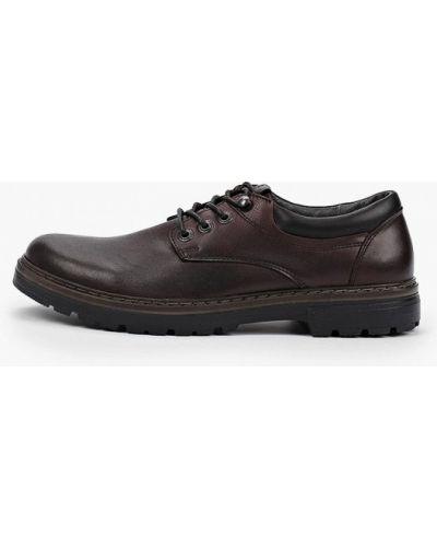 Бордовые кожаные туфли Shoiberg