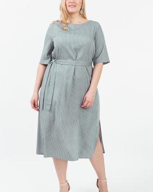 Платье макси в полоску с поясом Lacywear