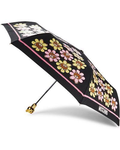 Czarny automatyczny parasol Moschino