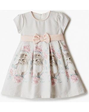 Платье на торжество бежевое Mili