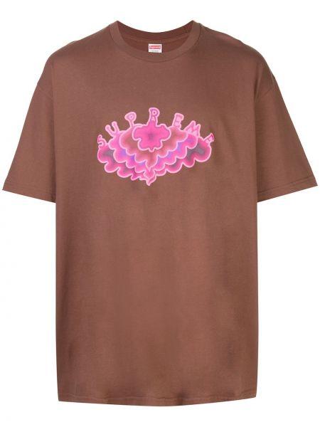Koszula krótkie z krótkim rękawem lato z nadrukiem Supreme