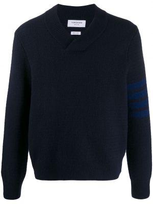 Ciepły pulower wełniany z długimi rękawami Thom Browne
