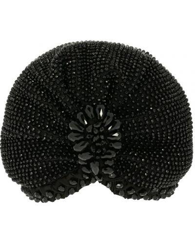 Czarny turban z wiskozy Mary Jane Claverol