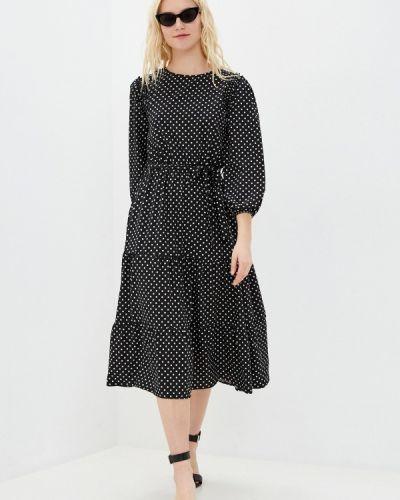 Прямое черное платье Froggi