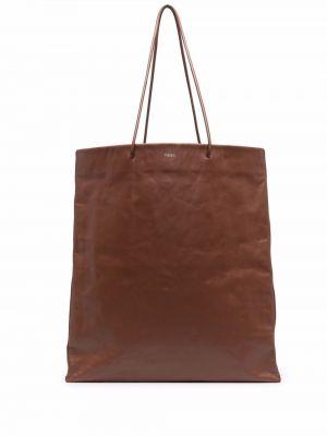 Brązowa torebka z printem Medea