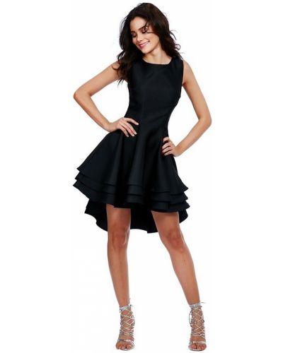 Расклешенное черное коктейльное платье Goddiva