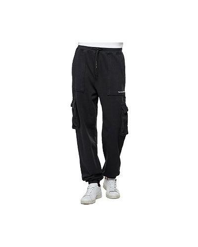 Хлопковые повседневные черные брюки Replay