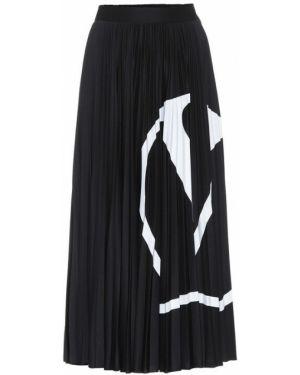 Юбка миди плиссированная с цветочным принтом Valentino