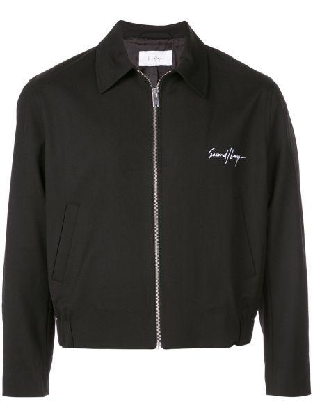 Черная куртка свободного кроя Second/layer
