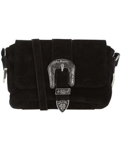 Czarna torba na ramię skórzana Treats
