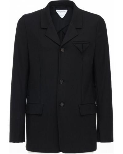 Черный пиджак с карманами Bottega Veneta