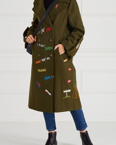 Пальто зеленое милитари Mira Mikati