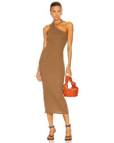 Повседневное оливковое трикотажное платье макси Enza Costa