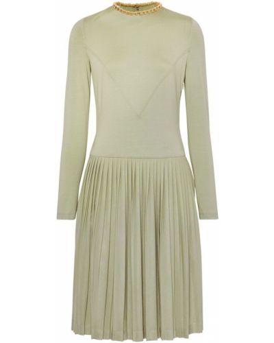 Шелковое платье миди - зеленое Burberry