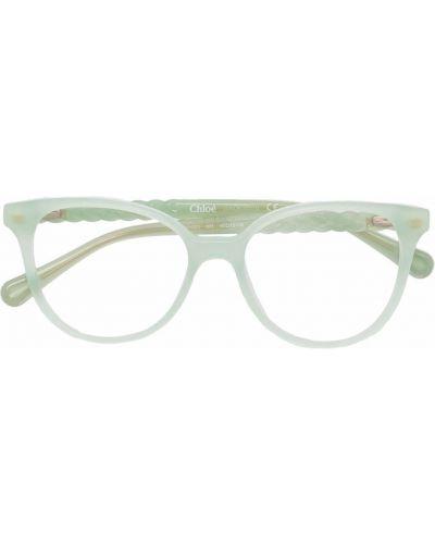Zielone okulary Chloé Kids