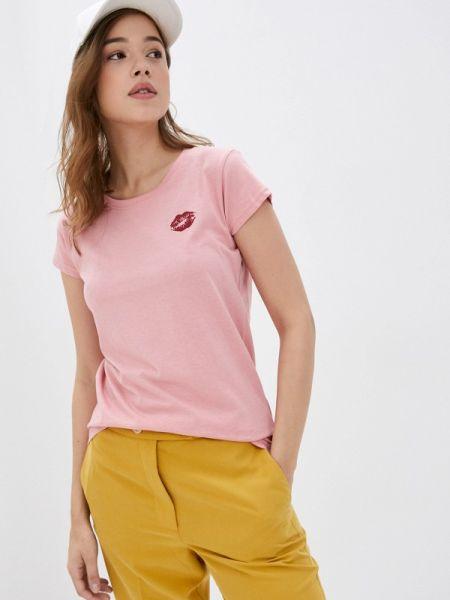 Розовая футбольная футболка Rock Angel