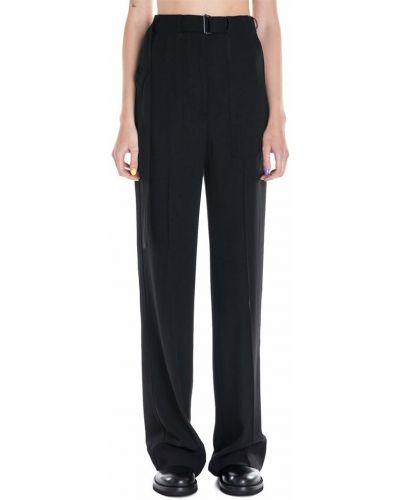 Czarne spodnie z wysokim stanem Ann Demeulemeester
