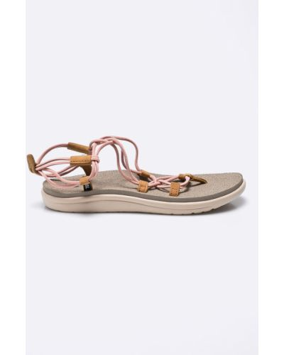 Розовые сандалии текстильные Teva