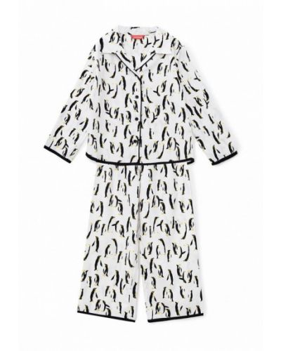 Пижамная белая пижама Cyberjammies