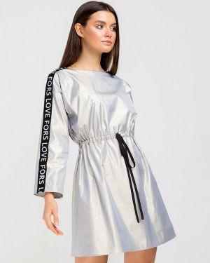 Платье серое прямое Fors