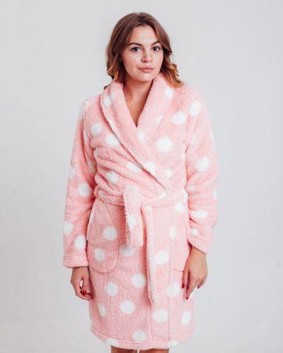 Розовый домашний халат Rebelle